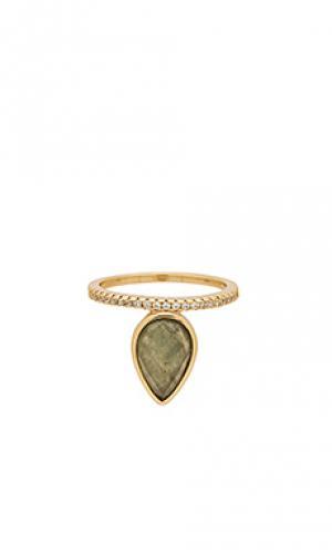 Кольцо teardrop Melanie Auld. Цвет: металлический золотой