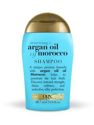 Мини шампунь для восстановления волос с аргановым маслом OGX. Цвет: белый