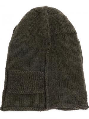 Классическая вязаная шапка Masnada. Цвет: зелёный
