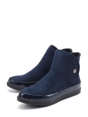 Ботинки BERTEN. Цвет: синий