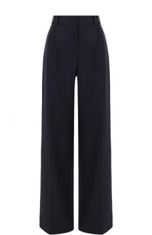 Расклешенные шерстяные брюки со стрелками Victoria Beckham. Цвет: синий