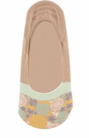 Хлопковые носки с принтом Antipast. Цвет: бежевый