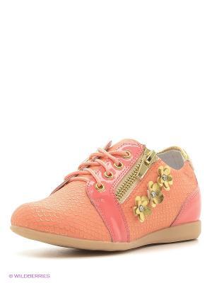 Ботинки KENKA. Цвет: коралловый