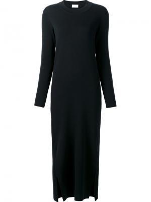 Платье с длинными рукавами и боковой шлицей Lemaire. Цвет: чёрный