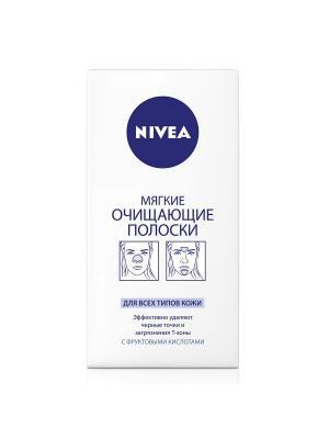 Nivea Мягкие очищающие полоски сверхинтенсивное очищение Т-зоны лица 6 шт.. Цвет: белый