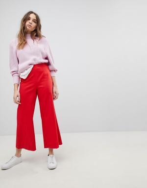 Max & Co Широкие укороченные брюки Max&Co.. Цвет: красный