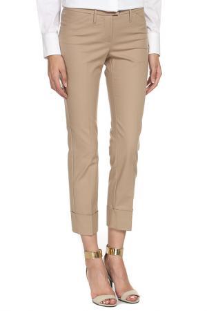 Укороченные брюки с застежкой на молнию Max Mara. Цвет: бежевый