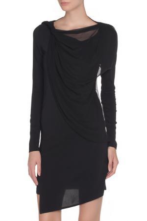 Легкое платье с ассиметричным низом Liu Jo. Цвет: черный