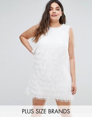 Elvi Белое платье. Цвет: белый
