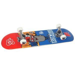Скейтборд в сборе детский  Decky Micro Red/Blue 27.75 x 6.75 (17.1 см) Footwork. Цвет: красный,синий
