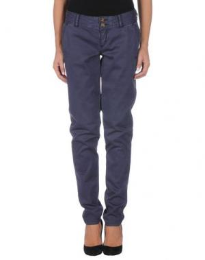 Повседневные брюки TIMEOUT. Цвет: темно-фиолетовый