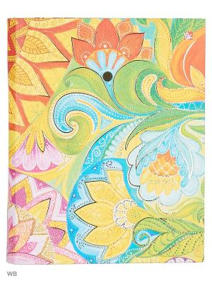 Тетрадь на кольцах 120 листов.Сказочные узоры Канц-Эксмо. Цвет: голубой, оранжевый, желтый