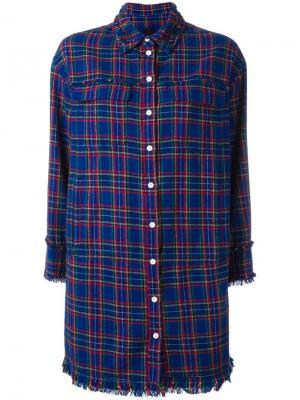 Рубашка свободного кроя в клетку Steve J & Yoni P. Цвет: синий