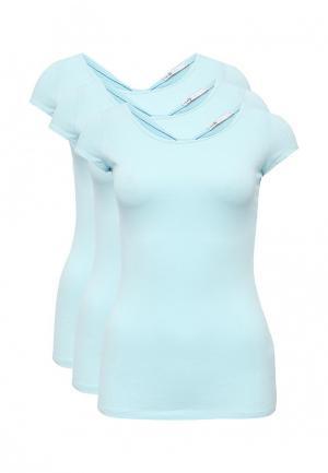 Комплект футболок 3 шт. oodji. Цвет: голубой