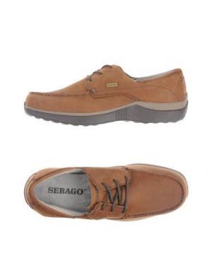 Низкие кеды и кроссовки SEBAGO. Цвет: темно-коричневый
