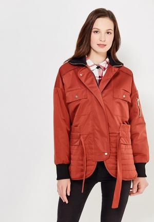 Куртка утепленная Befree. Цвет: коричневый