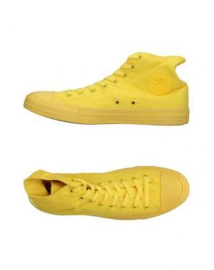 Высокие кеды и кроссовки CONVERSE ALL STAR. Цвет: желтый