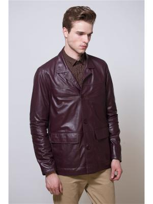 Кожаная куртка MONDIAL. Цвет: бордовый