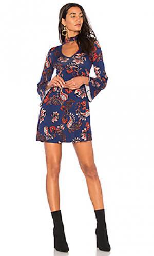 Платье с длинным рукавом audra Clayton. Цвет: синий