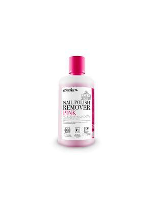 Жидкость для снятия лака Розовая SOLOMEYA. Цвет: розовый