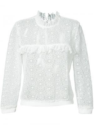 Кружевная блузка Anine Bing. Цвет: белый