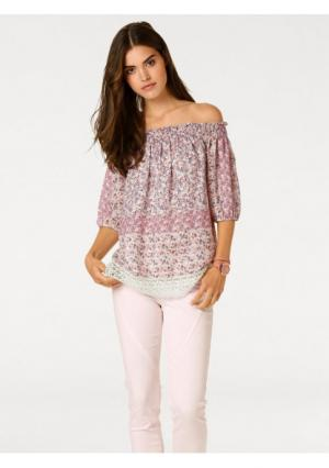 Блузка Linea Tesini. Цвет: розовый