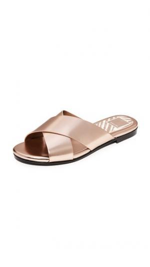Металлизированные сандалии Karlo Dolce Vita. Цвет: медный