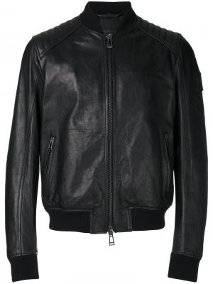 Leather jacket Belstaff. Цвет: чёрный