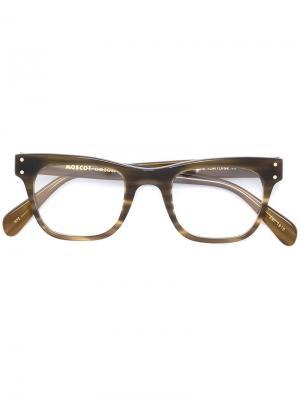 Очки Baba Moscot. Цвет: коричневый
