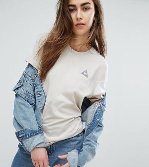 Le Coq Sportif Трехцветная футболка нейтральных оттенков эксклюзивно д. Цвет: мульти