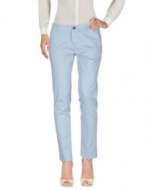 Повседневные брюки ANOTHER LABEL. Цвет: небесно-голубой
