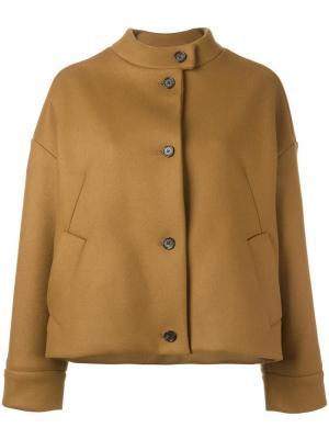 Укороченная куртка Aalto. Цвет: коричневый