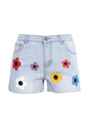 Шорты джинсовые Brigitte Bardot. Цвет: голубой