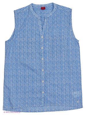 Блузка S.OLIVER. Цвет: серо-голубой