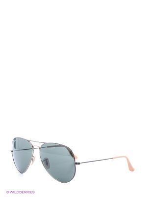 Очки солнцезащитные Ray Ban. Цвет: серый, синий