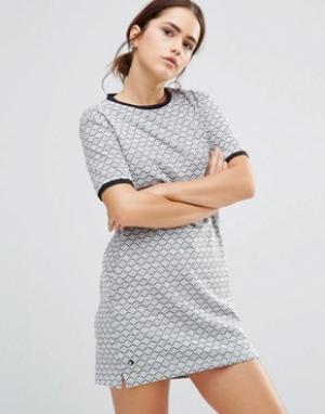 Uncivilised Платье Beatnik. Цвет: серый