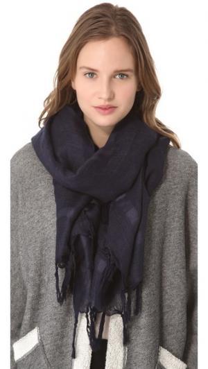Льняной шарф с кисточками узлами Love Quotes
