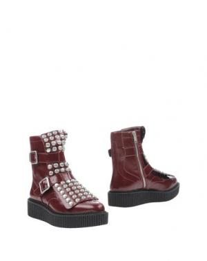 Полусапоги и высокие ботинки MARC BY JACOBS. Цвет: красно-коричневый
