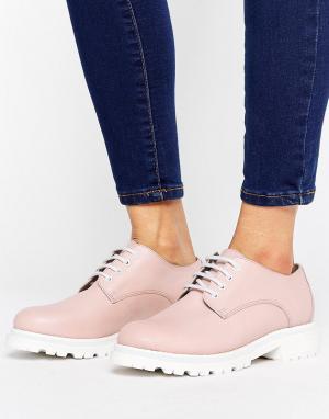Hudson London Кожаные туфли на высоком каблуке H by. Цвет: бежевый
