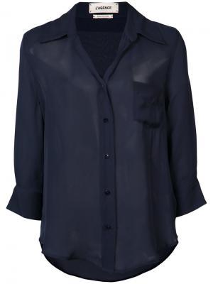 Рубашка в стиле casual Lagence L'agence. Цвет: синий