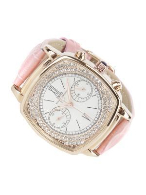 Часы на ремне IBSO. Цвет: розовый, золотистый