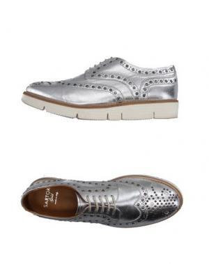 Обувь на шнурках SARTORI GOLD. Цвет: серебристый