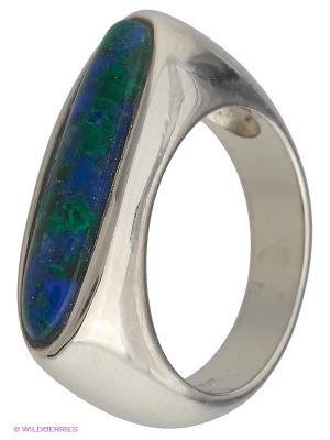 Кольцо BALEX. Цвет: зеленый, серебристый, синий