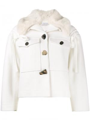 Куртка с искусственным мехом Daphne Rejina Pyo. Цвет: белый