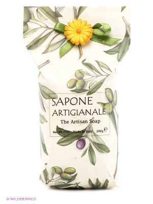 Натуральное косметическое мыло работы  аромат Олива Iteritalia. Цвет: белый