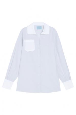 Хлопковая рубашка MoS. Цвет: серый