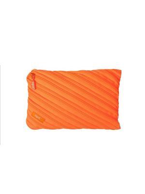 Пенал-сумочка NEON JUMBO POUCH, цвет оранжевый ZIPIT. Цвет: оранжевый
