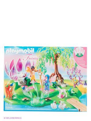 Игровой набор Остров фей с волшебным жемчужным фонтаном Playmobil. Цвет: зеленый, коричневый, белый