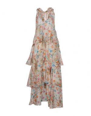 Платье длиной 3/4 ANJUNA. Цвет: слоновая кость