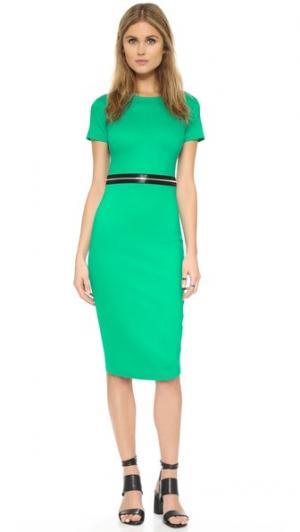 Облегающее платье на молнии McQ - Alexander McQueen. Цвет: изумрудный